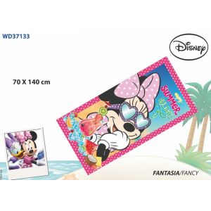 WD GIRLS BEACH TOWEL MINNIE